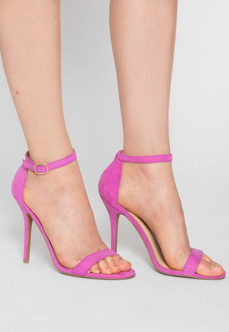 Nature Ankle Strap Heels in Orchid
