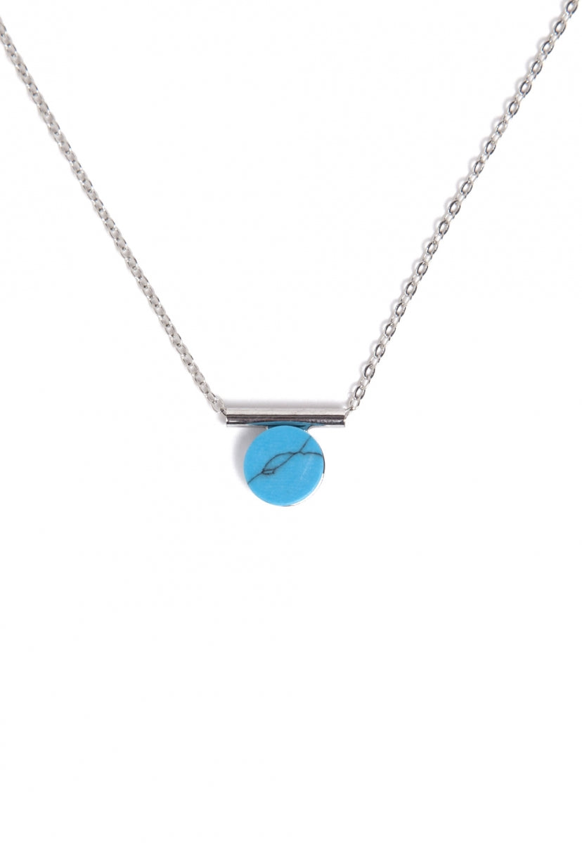 Flawless Marbled Necklace in Blue - Jewelry - Wetseal