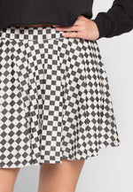 Righteous Checkered Flare Skirt