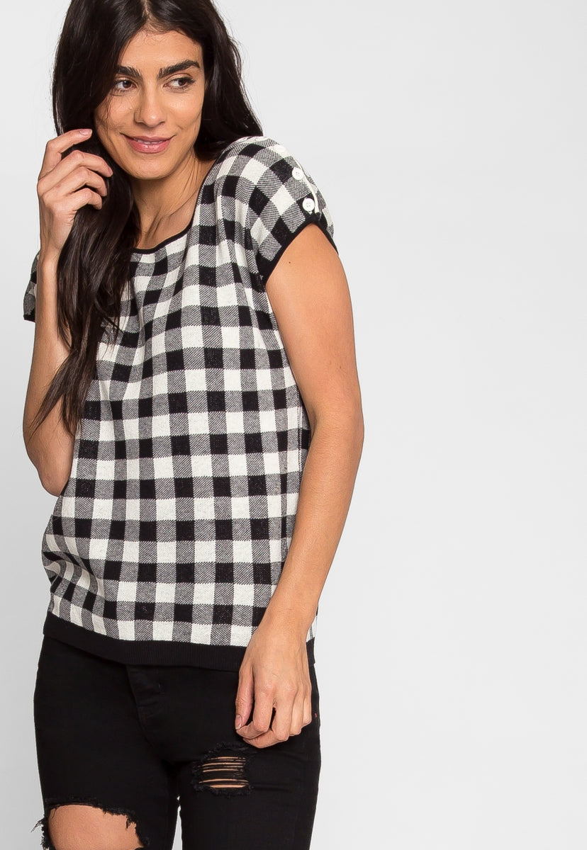 Checkmate Kimono Sleeve Sweater - Shirts & Blouses - Wetseal