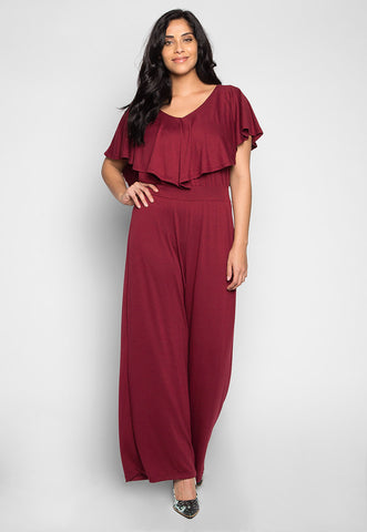 Plus Size Friday Feeling Layer Top Jumpsuit