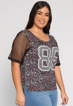 Plus Size Glory Floral Jersey Top