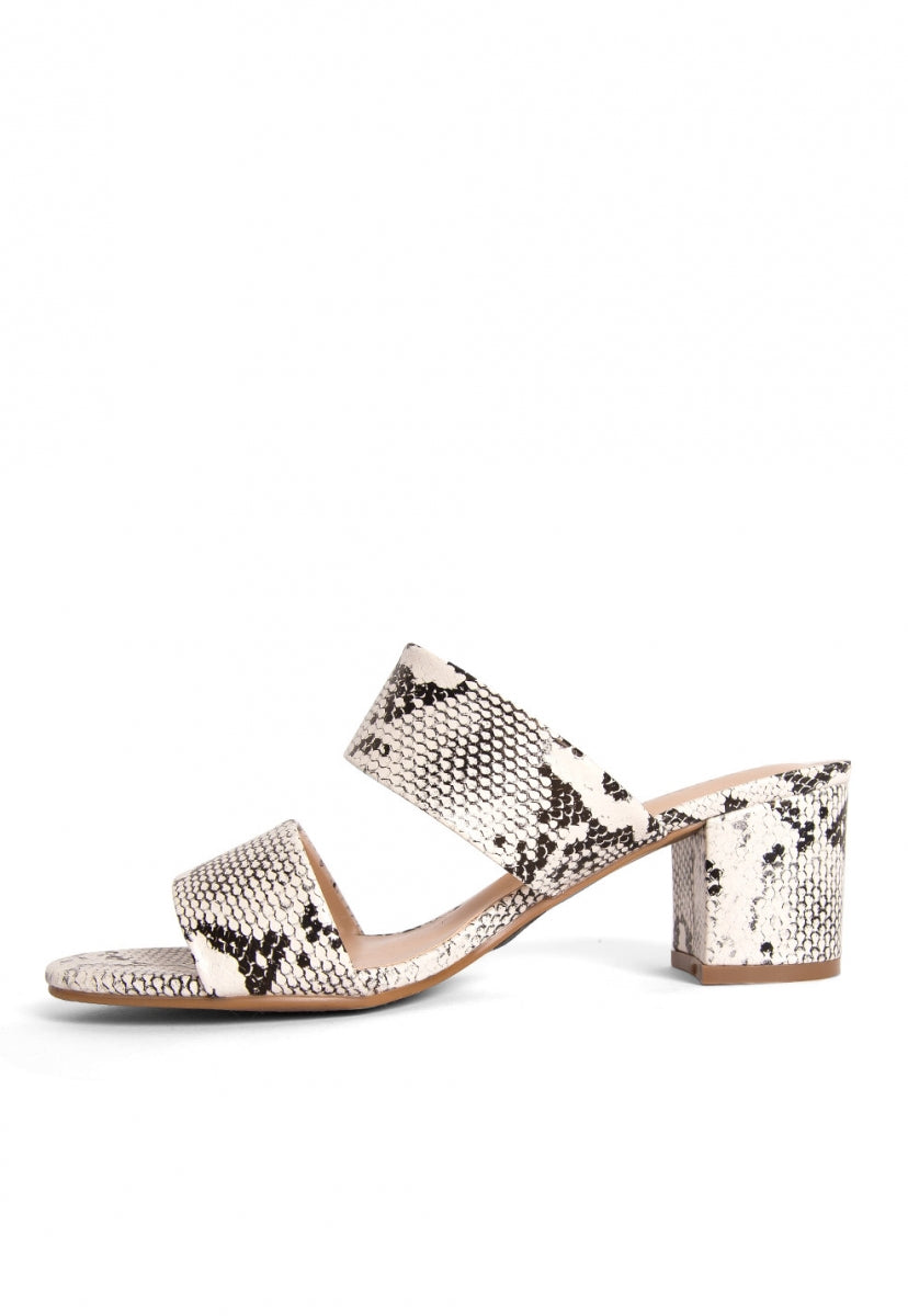 Kenney Snake Print Block Heels - Shoes - Wetseal