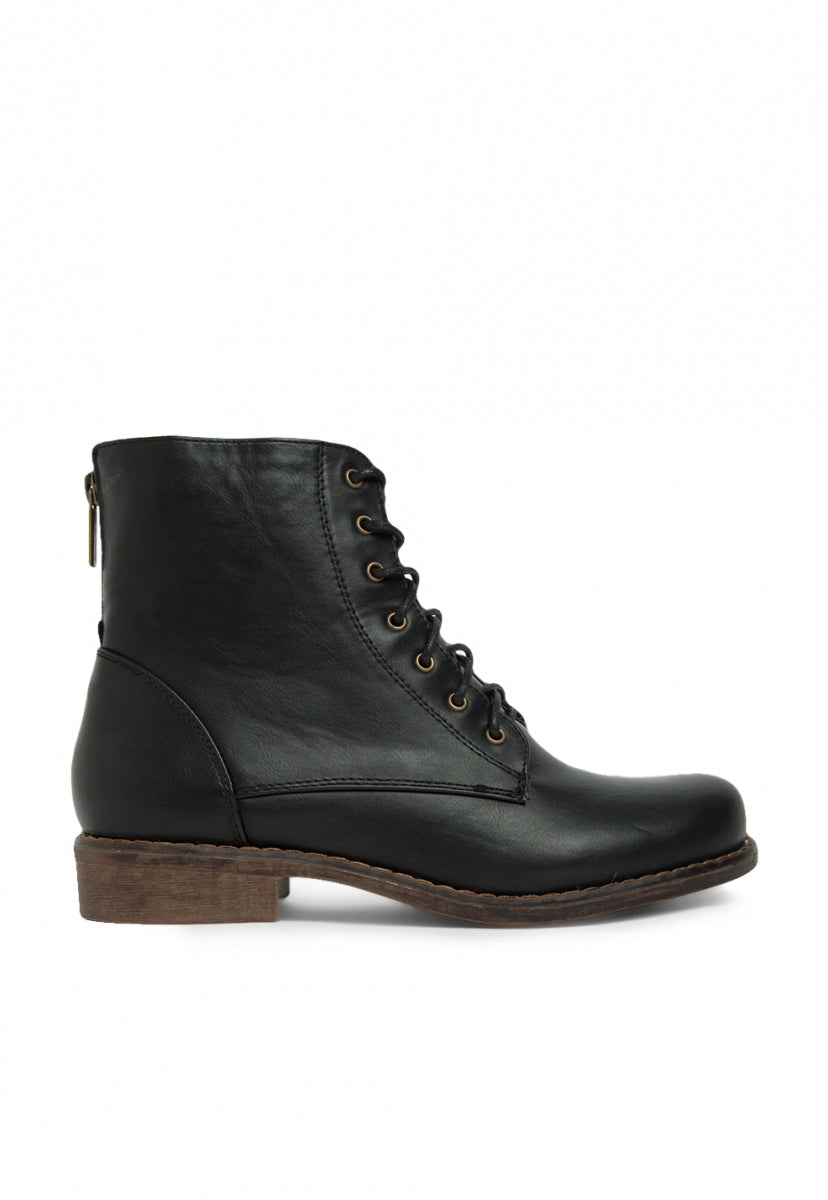 Take On Combat Boots in Black - Shoes - Wetseal