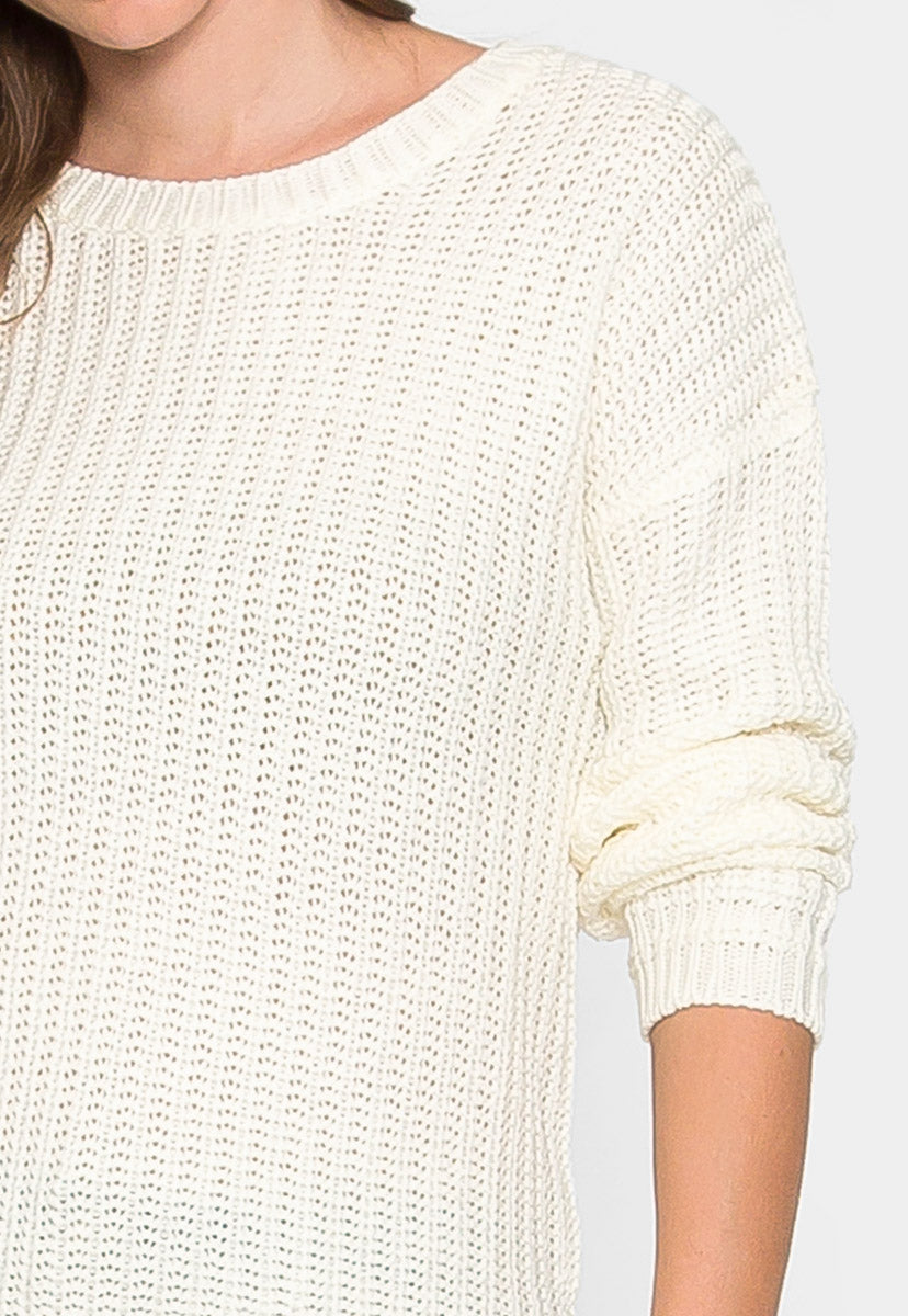 Elsinore Knitted Sweater - Sweaters & Sweatshirts - Wetseal