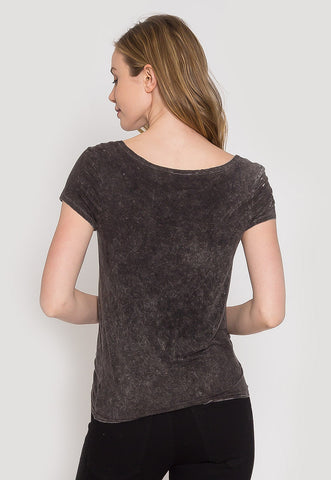 Asphalt Scoop Neck Tee