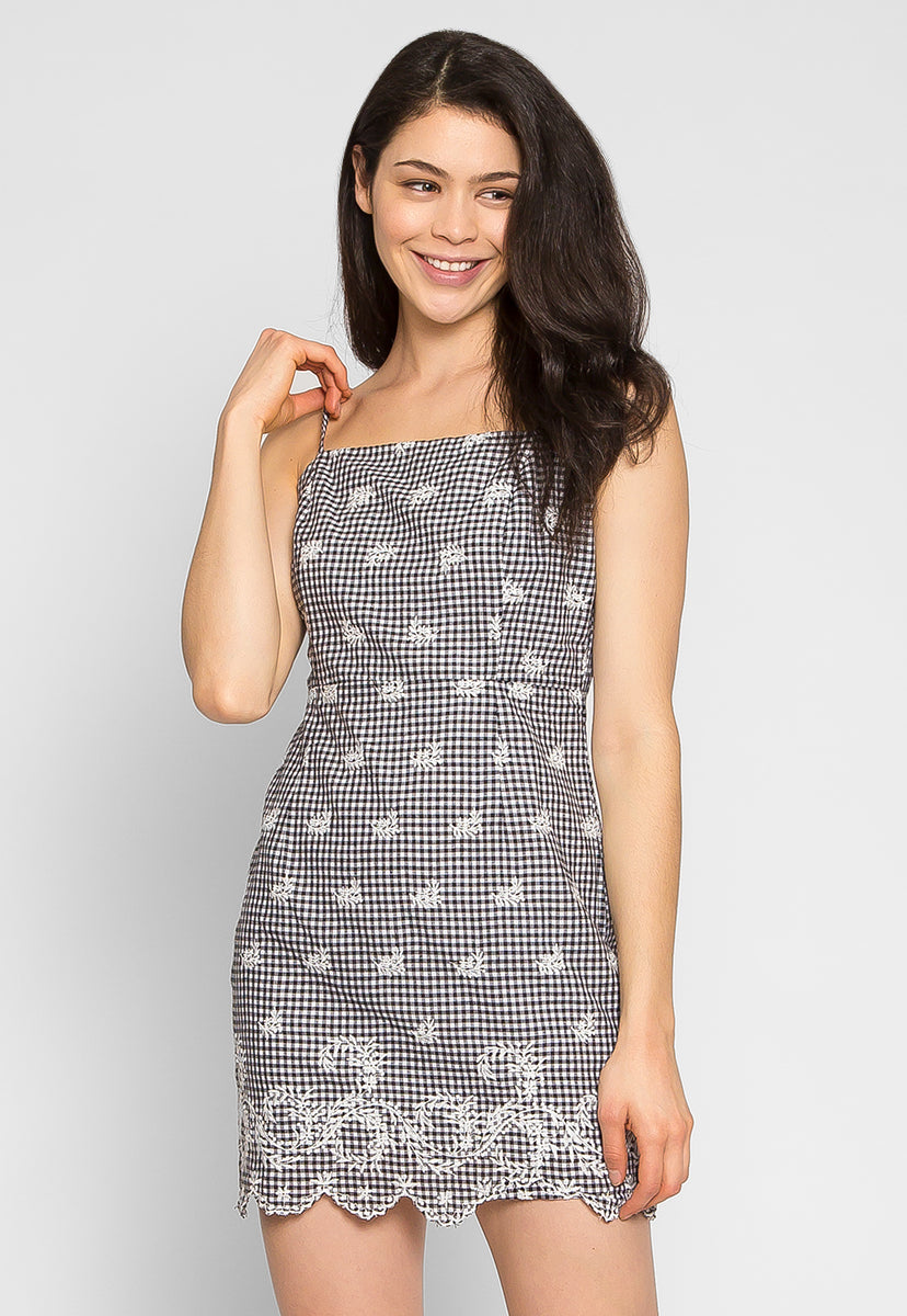 Sunset Embroidered Mini Dress - Dresses - Wetseal