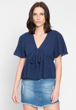 Sour Polka Dot Empire Blouse