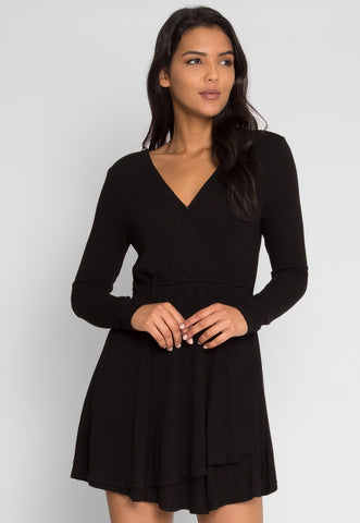 All Night Faux Wrap Dress