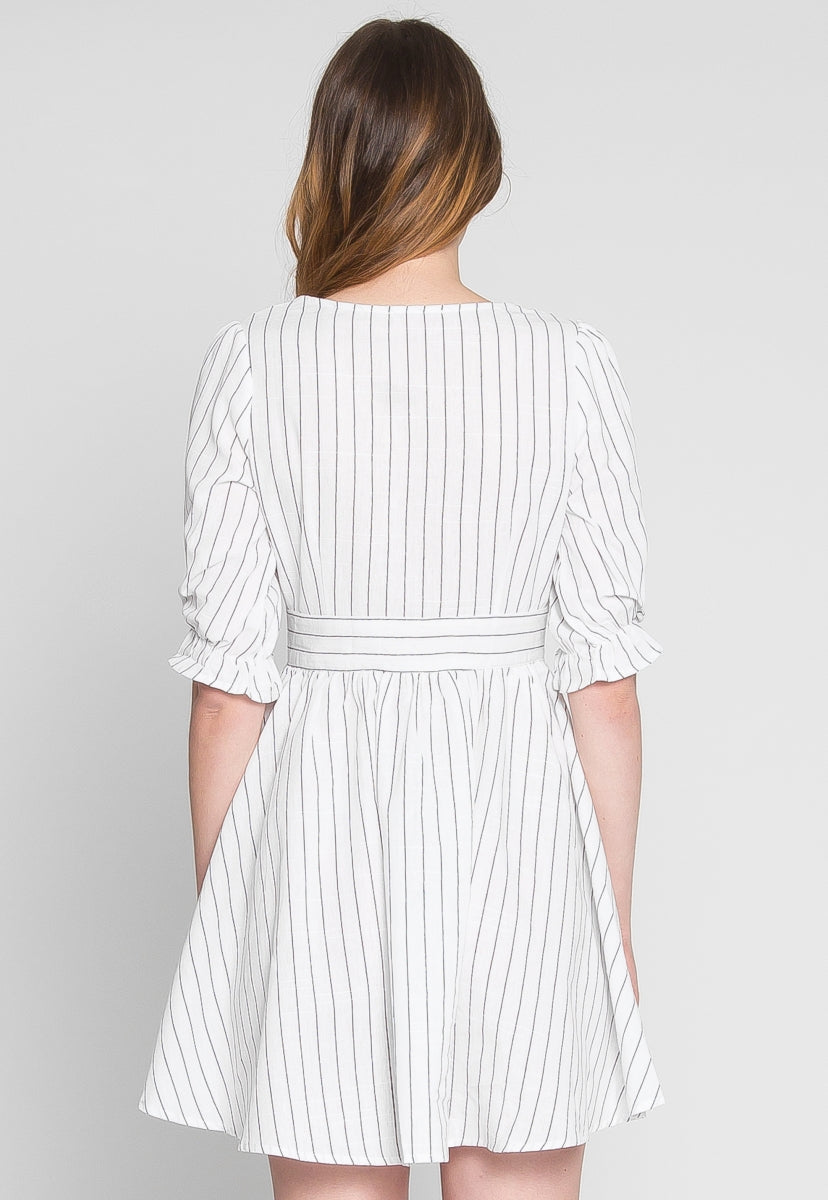 Take Me Out Stripe Skater Dress - Dresses - Wetseal