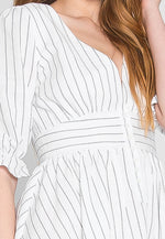 Take Me Out Stripe Skater Dress