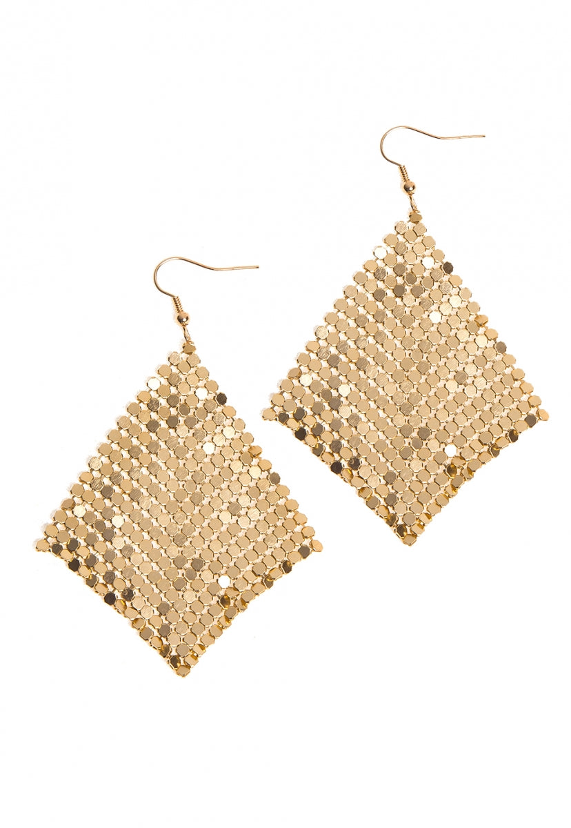 Hold It Together Chainmail Earrings - Jewelry - Wetseal