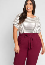 Plus Size Paperbag Waist Pants