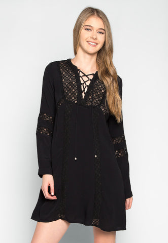 Riverside Lace Inserts Tunic Dress