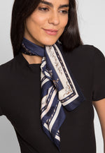 Rome Scarf in Navy
