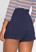 Skyline High Waist Shorts in Navy