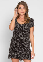 Bliss Button Front Polka Dot Dress