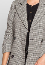 East End Houndstooth Trench Coat