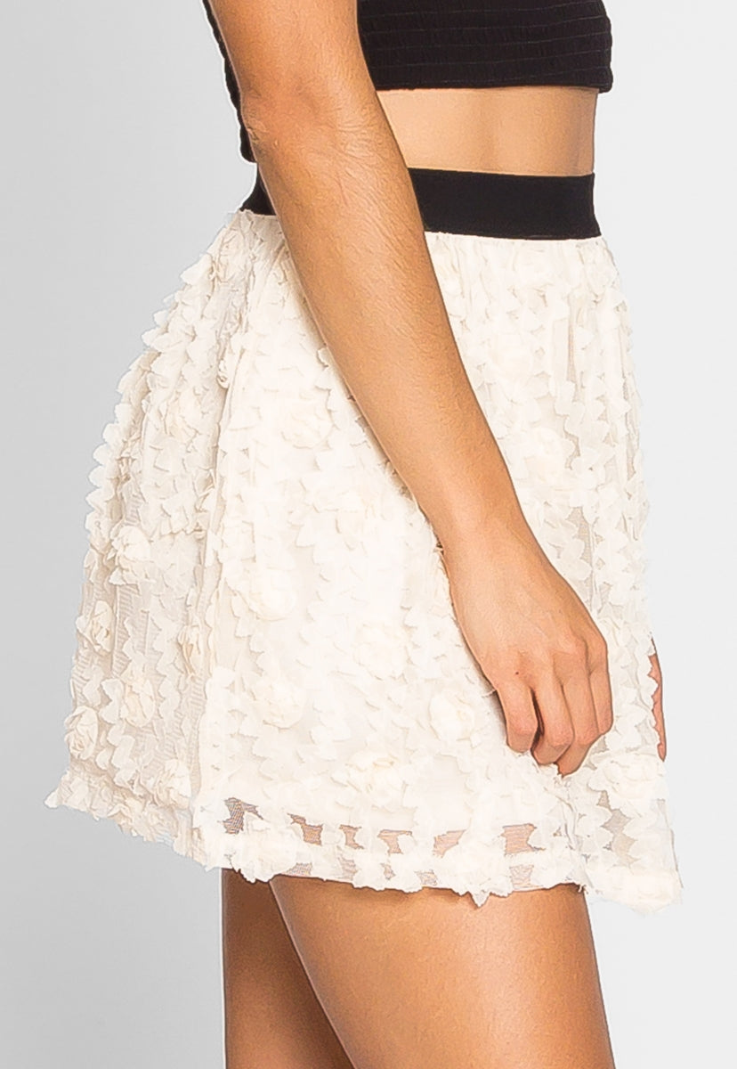 Clover Textured Mini Skirt - Skirts - Wetseal