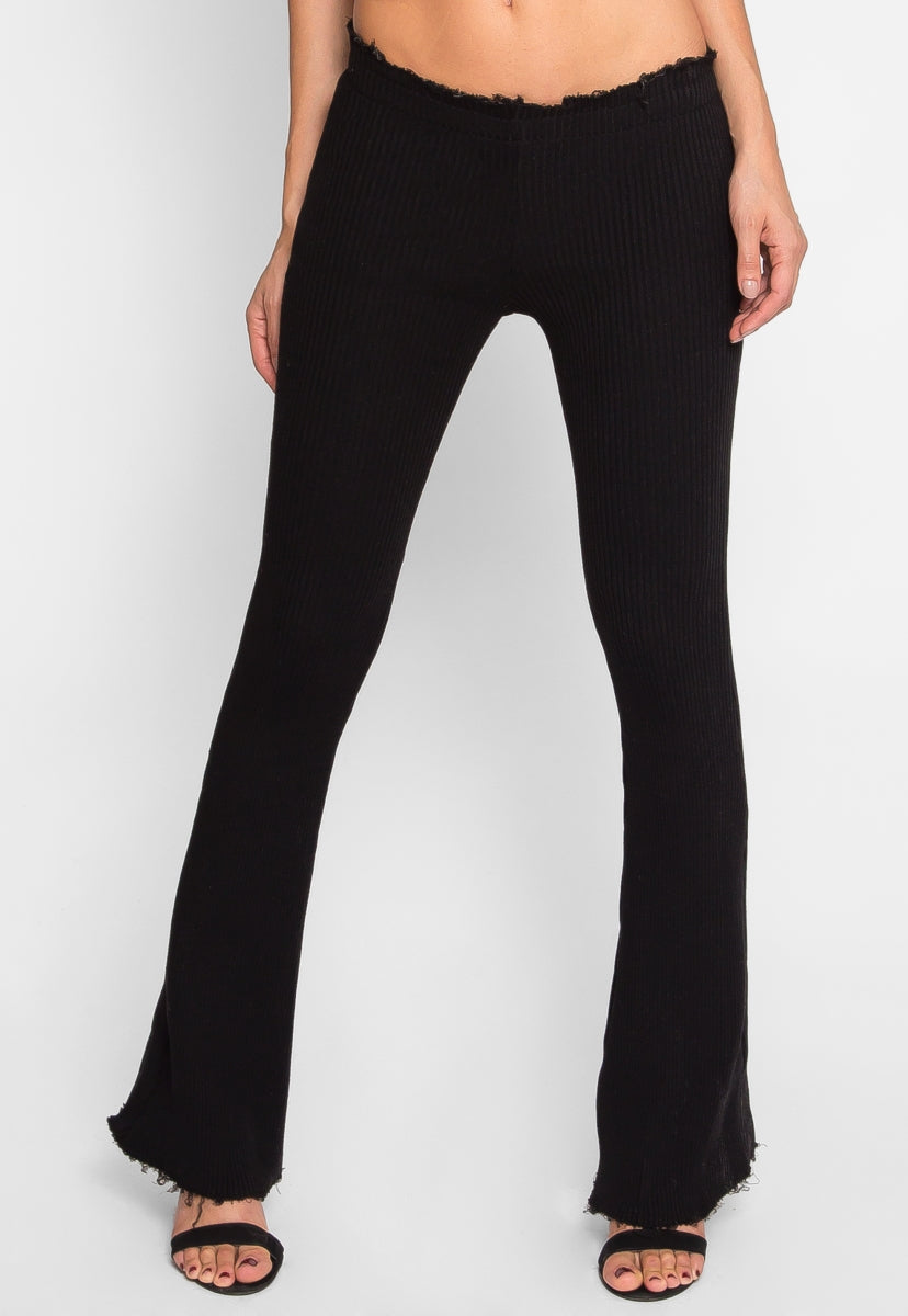 Fall Season Knit Kick Flares - Pants - Wetseal