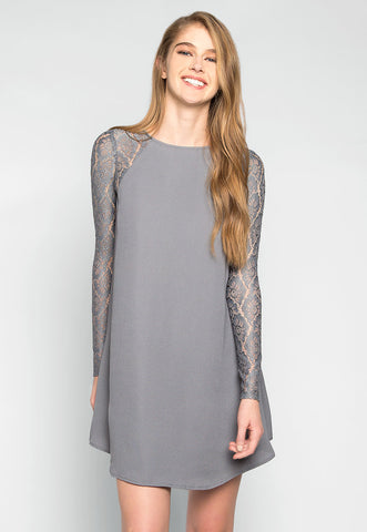 Valerie Lace Sleeves Tunic Dress