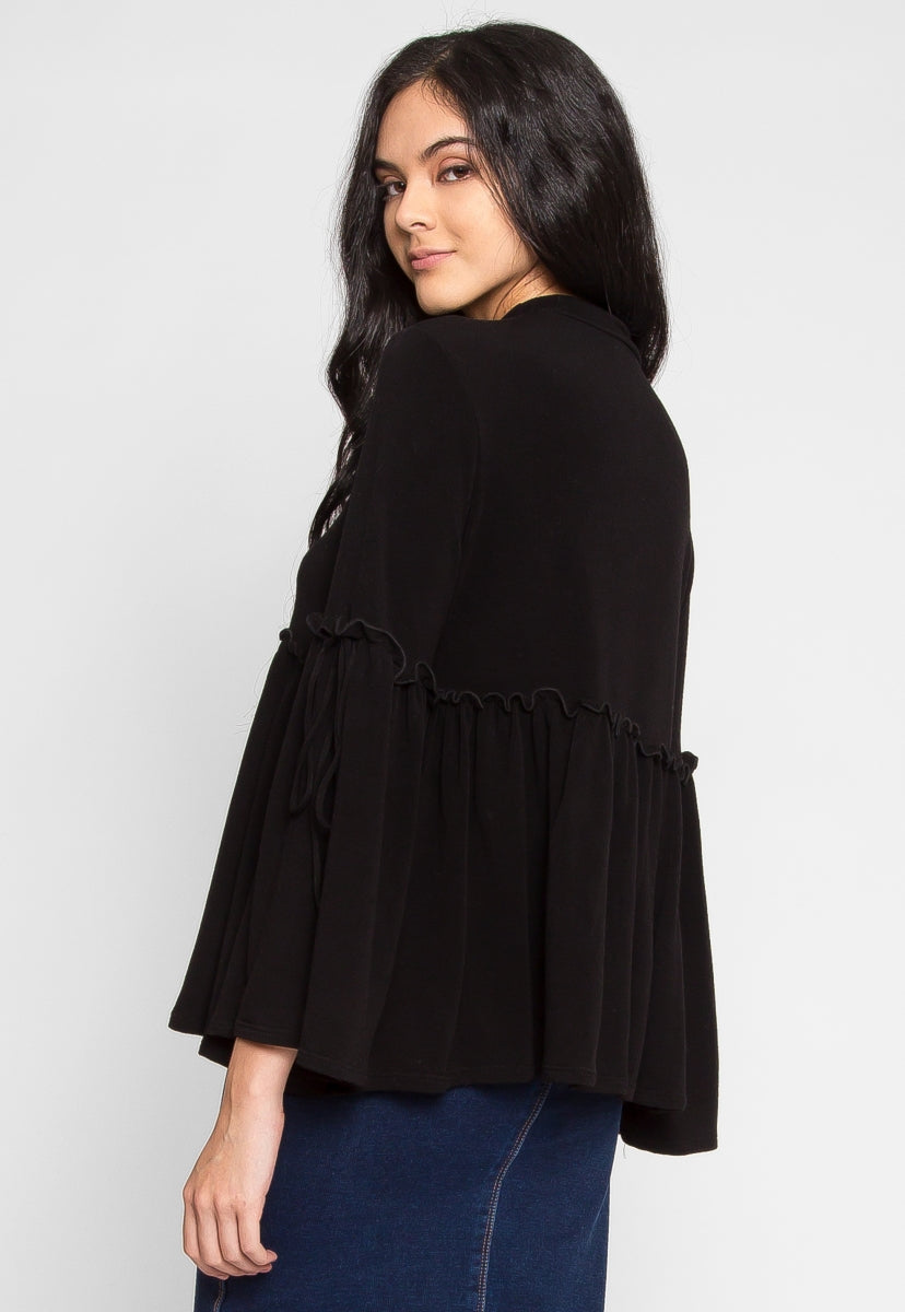 Down Time Peplum Knit Top - Shirts & Blouses - Wetseal
