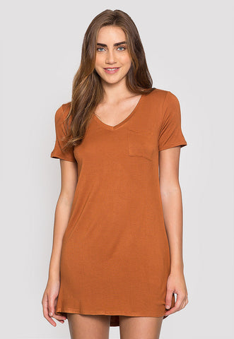 Hazelnut T-Shirt Dress