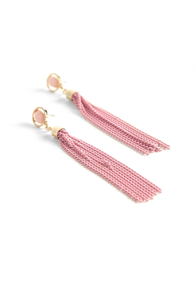 Tough Chain Tassel Earrings - Jewelry - Wetseal