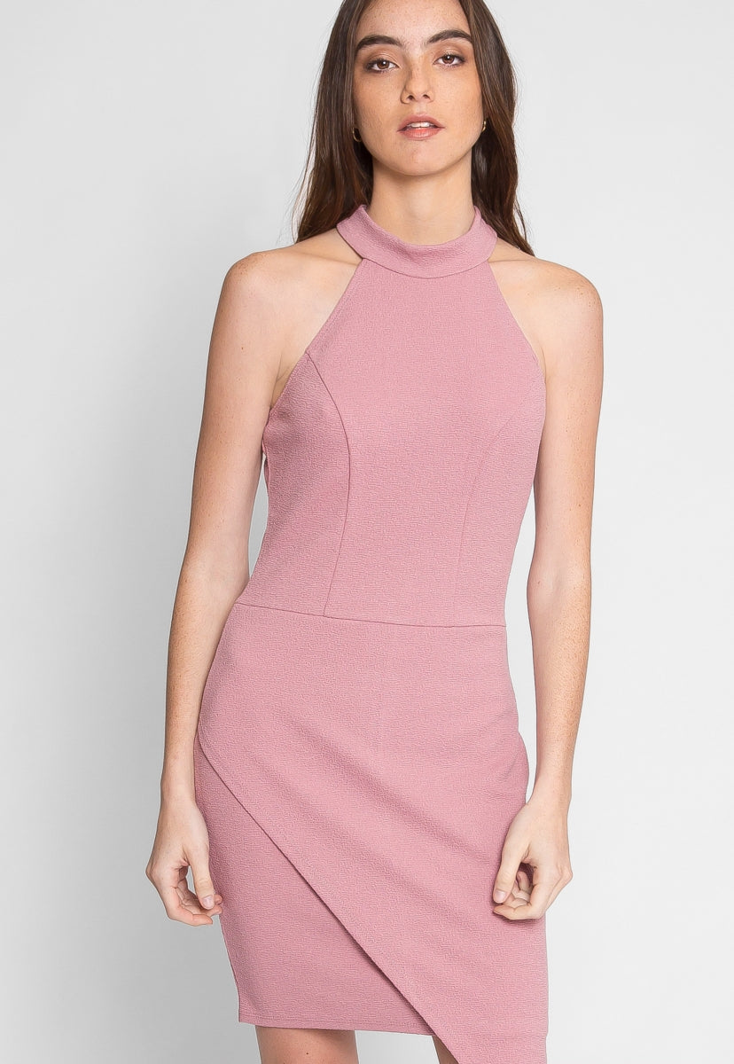 Sweet Touch Fitted Dress in Mauve - Dresses - Wetseal