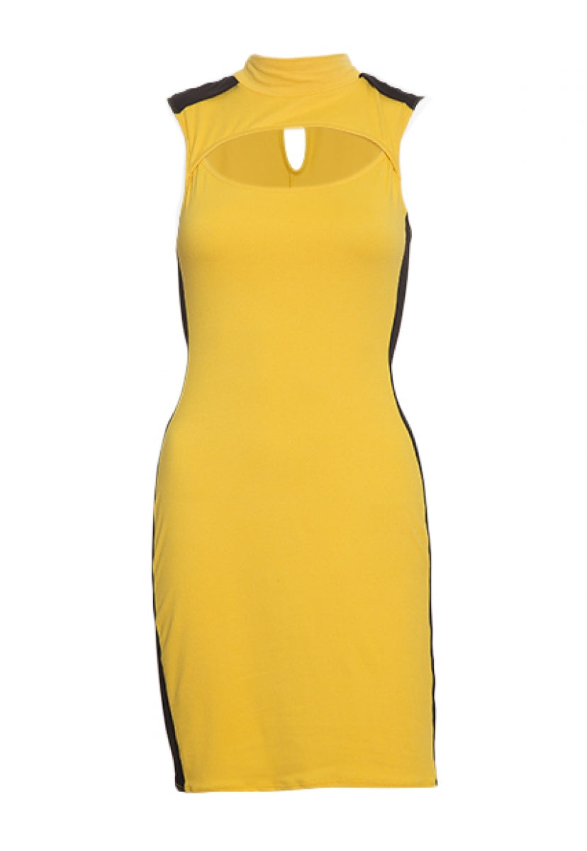 Streetcar Cut Out Dress in Yellow - Dresses - Wetseal
