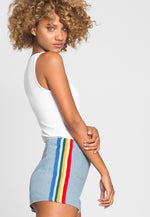 Spectrum Light Denim Shorts
