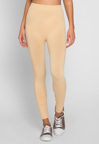 Luna Basic Leggings in Beige