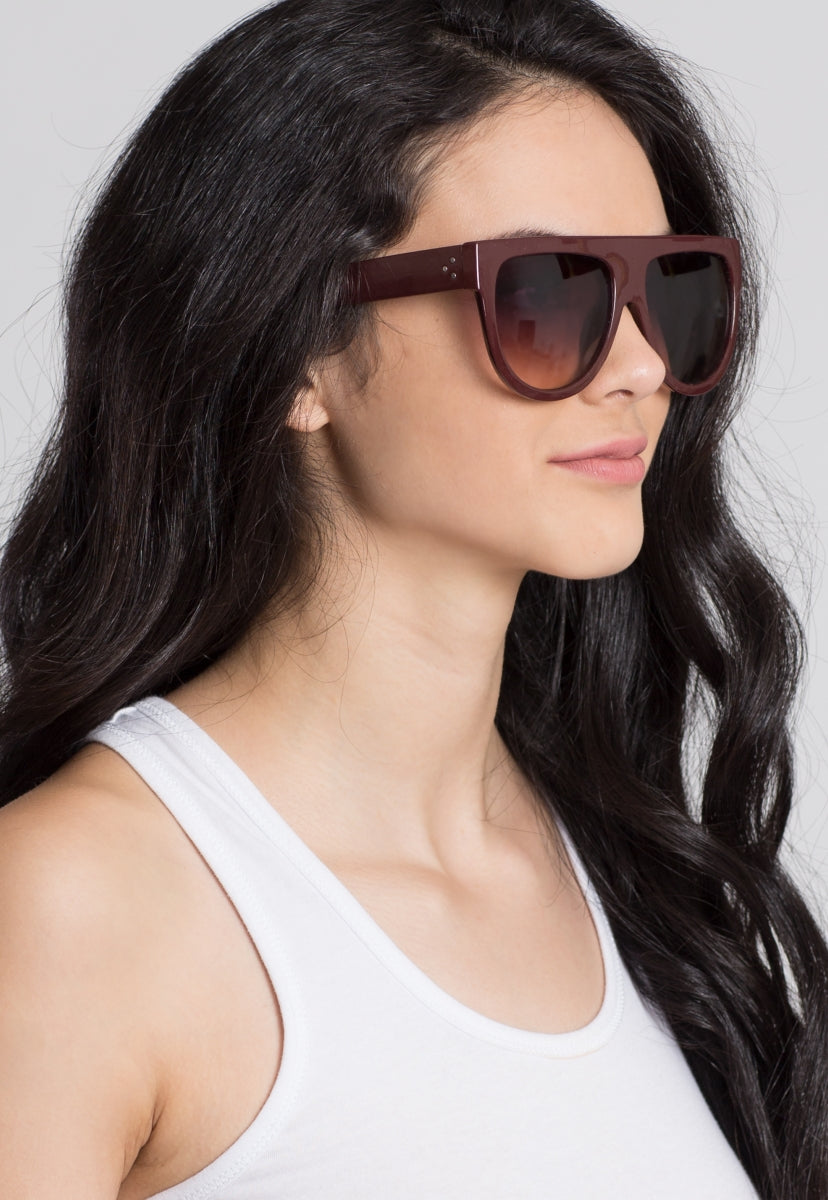 Moreno Valley Flat Top Sunglasses - Sunglasses - Wetseal