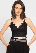 Bliss Guipure Lace Crop Top