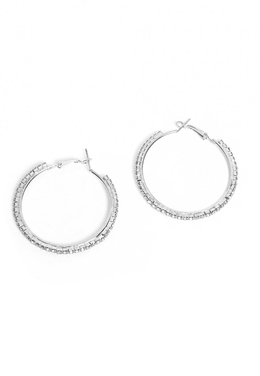 Aurora Hoop Earrings in Silver - Jewelry - Wetseal