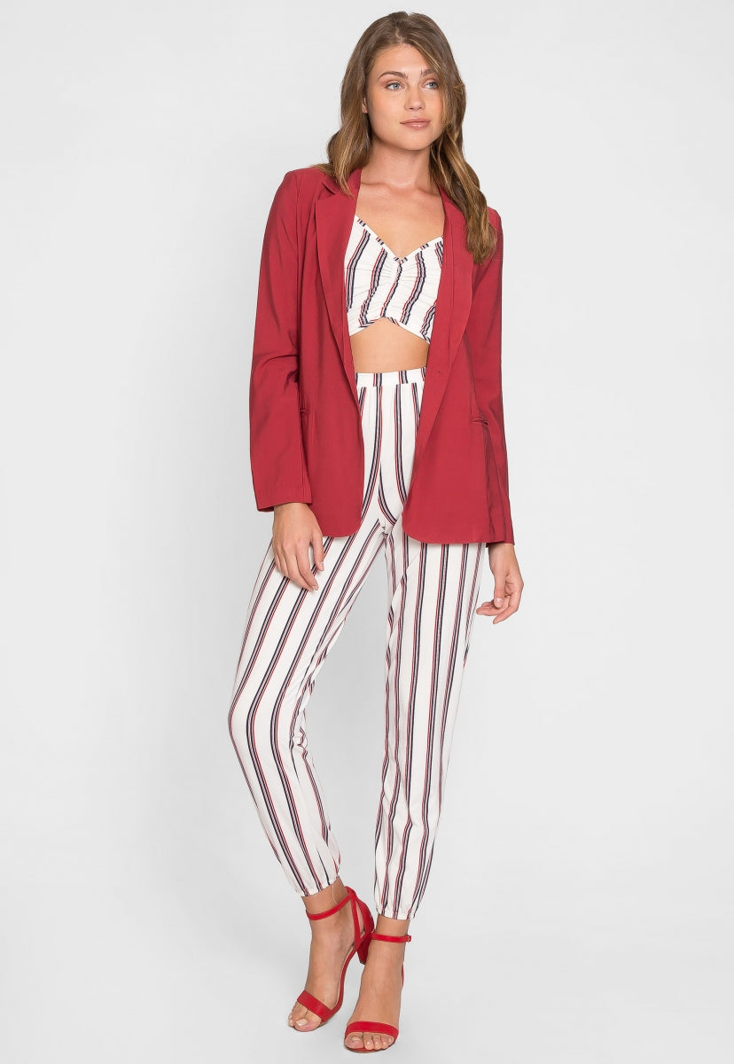 Boardwalk Boyfriend Blazer - Jackets & Coats - Wetseal