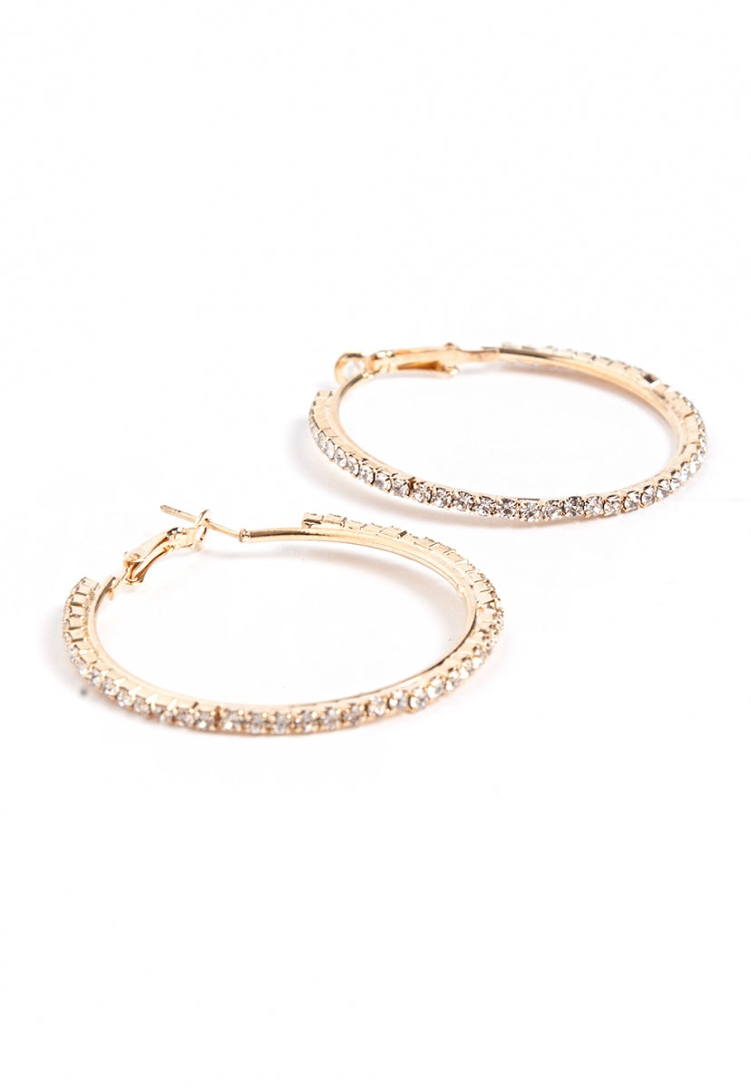 Aurora Hoop Earrings in Gold - Jewelry - Wetseal