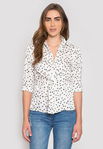 Getting Better Star Print Blouse