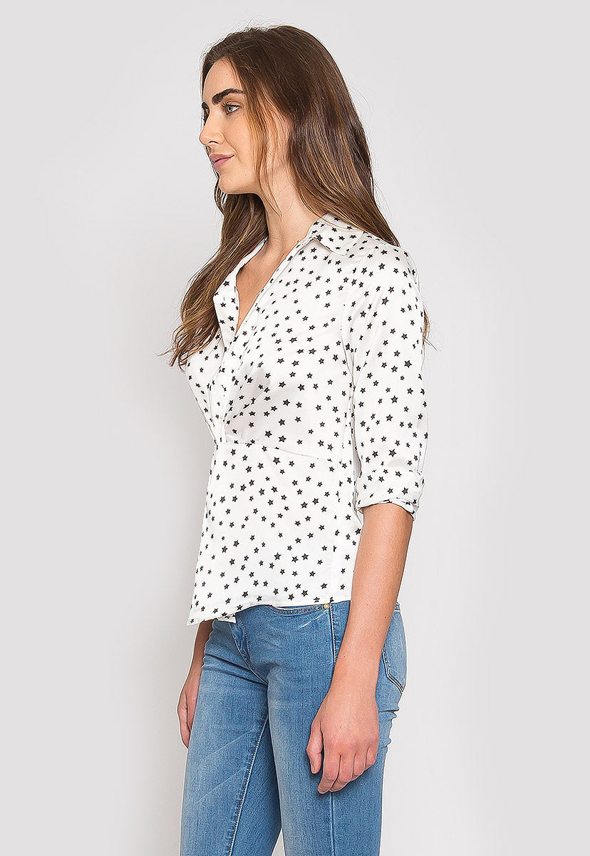 Getting Better Star Print Blouse - Shirts & Blouses - Wetseal