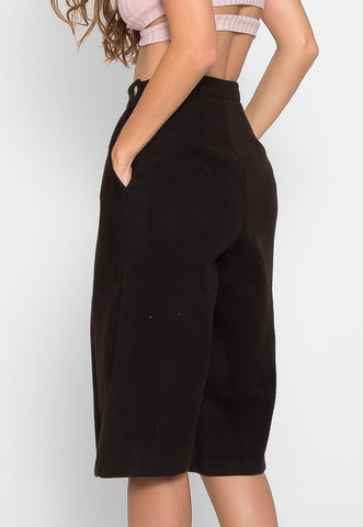 Onyx Fleece Culotte Pants