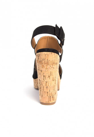 Good Stuff Cork Platform Wedge Sandals
