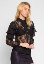 Flutter Sheer Lace Front Top