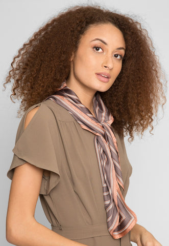 Shine Bright Scarf in Brown