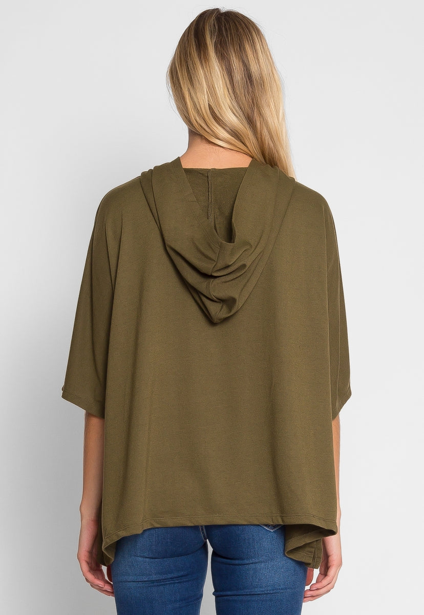Workout Oversized Hoodie in Olive - Sweaters & Sweatshirts - Wetseal