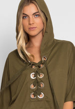 Workout Oversized Hoodie in Olive