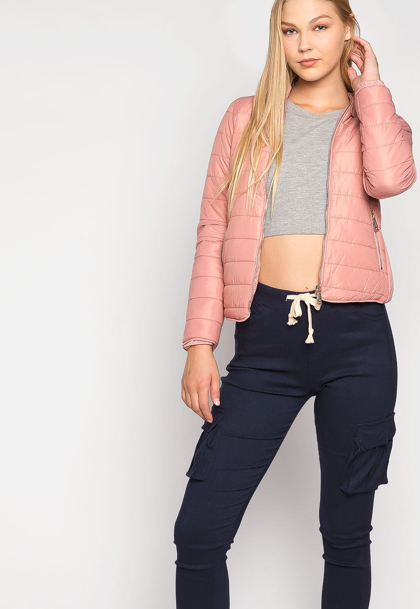 Feel the Love Soft Lining Quilted Jacket in Pink - Jackets & Coats - Wetseal