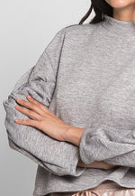 Lounge Sleeve Detailed Sweater in Gray