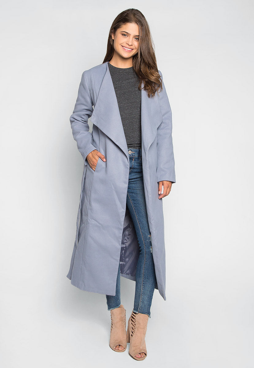 High For This Long Coat - Jackets & Coats - Wetseal