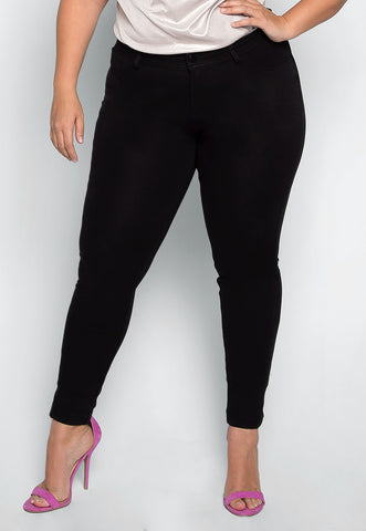 Plus Size Amelia Knit Skinny Pants