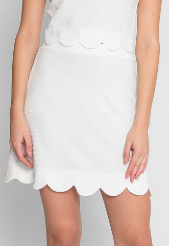 Clear Skies Scallop Skirt